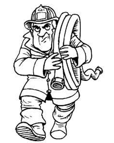Printables Fireman Carry Tools Coloring Pages