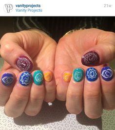 Chakra nail art
