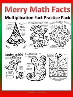 This is a bundle pack of six multiplication color by number pages for students to practice their facts with. They are themed for the Christmas holi...
