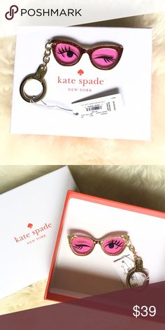 Kate spade Winking eye key chain New with tag. Will comes with box. Great gift 🎁 kate spade Accessories Key & Card Holders