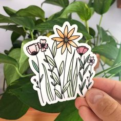 Cute Laptop Stickers, Cool Stickers, Sticker Shop, Sticker Design, Cute Doodle Art, Cactus Stickers, Bullet Journal Aesthetic, Colorful Flowers, Hydro Flask