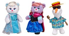 Build a Bear Frozen and Olaf Bears!