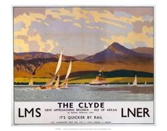 Image result for norman wilkinson Isle Of Arran, Framed Artwork, Wall Art, Vintage Travel Posters, Printing Process, Norman, Find Art, Giclee Print, Pure Products