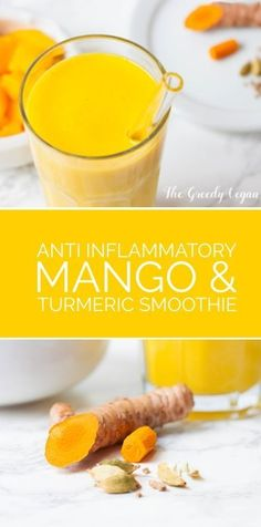 This mango and turmeric smoothie is a very tasty way to fend off colds during dreadful winter days. It is anti inflammatory and provides antioxidants.