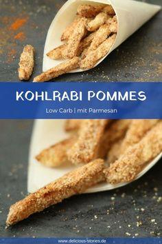 Kohlrabi Pommes, eine Low Carb Variante – Delicious Stories – Pratik Hızlı ve Kolay Yemek Tarifleri Veal Recipes, Veggie Recipes, Slow Cooker Recipes, Gourmet Recipes, Low Carb Recipes, Healthy Recipes, Brunch Recipes, Chou Rave, Cauliflower Recipes