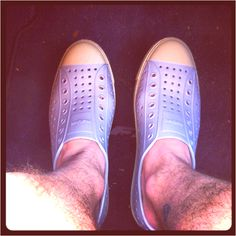 My new shows for the summer: The Jefferson by Native Shoes in pigeon grey
