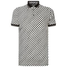 Dolce & Gabbana Striped Polo Shirt ($385) ❤ liked on Polyvore featuring men's fashion, men's clothing, men's shirts, men's polos, mens polo shirts, dolce gabbana mens shirts, mens leather shirt, mens bike shirts and mens print shirts