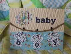 Easy Spellbinders Diamond Strips And Accents Baby Card!