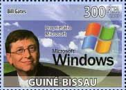 Guinea-Bissau - 2009  Bill Gates, owner of Microsoft