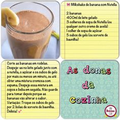 Milkshake de banana com Nutella