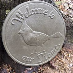 Cardinal Stepping Stone Mold Easy to use comes with printed instructions on how to use it. Measure x at it's thickest point. Stepping Stone Molds, Concrete Molds, Make Your Own, How To Make, Garden Decorations, Mold Making, Just For You, Bird, Printed