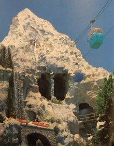 "The Skyway passing through the Matterhorn as seen in 1987 book ""Disneyland: Inside Story"" by Imagineer Randy Bright"