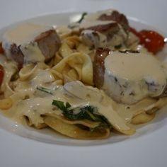 Pasta med fläskfilé – recept - Mitt kök Bastilla, Foodies, Cake Recipes, Food Porn, Food And Drink, Healthy Eating, Sweets, Blogg, Meat