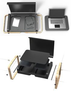 laptop desk and case