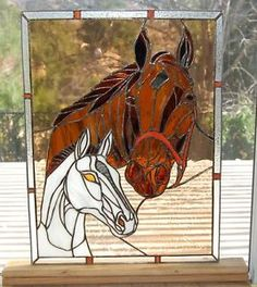 stained-glass-window-Mare-with-Foal