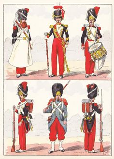 French; Imperial Guard, Grenadiers, 1856 from Hector Large's Le Costume Militaire Vol III