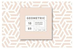 18 Geometric Seamless Patterns by Curly_Pat on @creativemarket