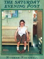 "Tomboy by Buffalo Games  Norman Rockwell""Shiner"" jigsaw puzzle .  Saturday Eving Post May 23, 1953 edition"