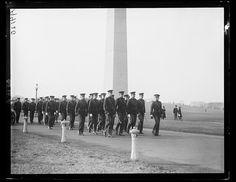 Military Ceremony at Washington Monument, 1922