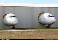 Iberia Boeing 727-256 Adv [right] EC-CFB c/n 20812 Hanger 6 Museo del Aire @ Madrid Cuatro Vientos May 18, 2013 Photo by: Christopher Vondra - LNZ-Spotter