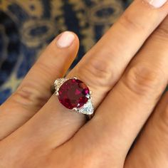 This is one of the most amazing rubies I've seen in a while. The fact that it was Irving Berlin's, presented to his wife on their 40th…