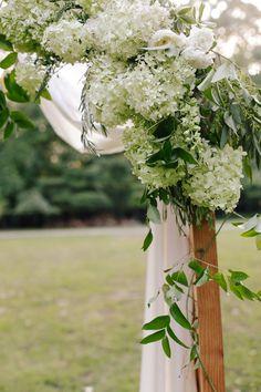 #hydrangea, #arch    Read More: http://www.stylemepretty.com/2013/12/20/davies-manor-plantation-wedding/