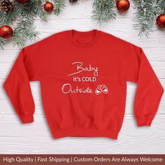 Baby It's Cold Outside Ugly Christmas Sweater Corgi