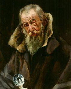 Joaquín Sorolla - Retrato de anciano - San Telmo Museoa, San Sebastián Figure Painting, Painting & Drawing, Michael And Lucifer, Beard Art, Spanish Painters, Madrid, Face Art, Art Faces, Portrait Art