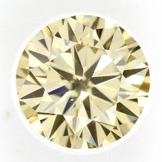 Light Yellow Color 0.65 Ct.Loose Moissanite Round Stone SI1 Clarity~ Rare Pcs