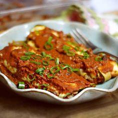 Grain-free and vegan, try this #blackbean and #sweetpotato #enchiladas
