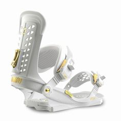 The strongest women's specific snowboard binding. The Trilogy Snowboard Bindings are made for women who want to ride hard in any condition or any terrain. A favourite of Union Pro Jessica Kimura, these bindings are made to last, a true workhorse of the Snowboarding Outfit, Snowboarding Women, Snowboard Bindings, Baseball Training, Strong Women, High Top Sneakers, Surfing, Heels, Outdoor Activities
