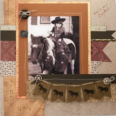 Cowgirl layout - Heritage Scrapbook Layout