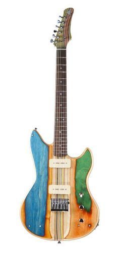 Guitars made from skateboards. http://sobadsogood.com/2015/08/04/killer-guitars-handmade-broken-skateboards-look-awesome-prisma-guitars-nick-pourfard/