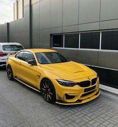 Custom yellow BMW M4