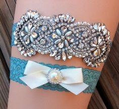 Wedding Garter / Pearl and Crystal Rhinestone by SimplyKateGrace, $24.00