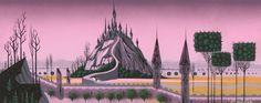 Visual development art from Sleeping Beauty