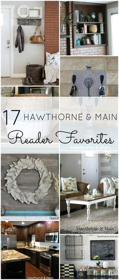 Hawthorne and Main Turns ONE!!! Here is a round up of 17 reader favorites from this past year!!