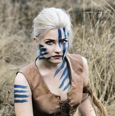 Celtic warrior woman war paint