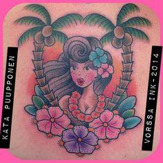 https://www.facebook.com/VorssaInk, http://tattoosbykata.blogspot.fi, #tattoo #tatuointi #katapuupponen #vorssaink #forssa #finland #traditionaltattoo #suomi #oldschool #pin up #tiki