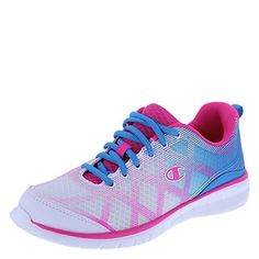 405451c4b Champion Womens White Blue Womens 3D Breeze Runner 5 Regular     Click on  the