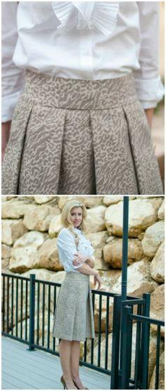 15 DIY Skirts Ideas For Crazy Summer, DIY The Gilded Skirt
