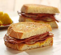 Fried Mortadella and Provolone Sandwiches