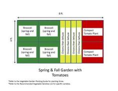 Salad Garden Design for 4 x 8 Raised Bed edible gardening