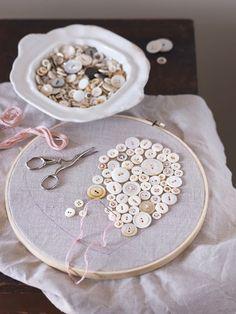 Crafts | Make a Handmade Heart Button Pillow