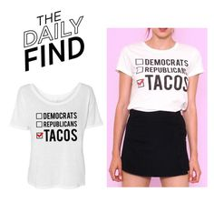 """The Daily Find: Tees and Tank You T-Shirt"" by polyvore-editorial ❤ liked on Polyvore featuring DailyFind"