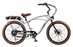 The most important part of any Pedego is the person riding it, and the Interceptor is made to be the most comfortable electric bike on earth.  ● Cruiser-style frame geometry helps you enjoy a natural, upright riding position ● Extra wide, swept back handlebars allow you to sit back and relax ● And premium balloon tires give you a nice, smooth ride