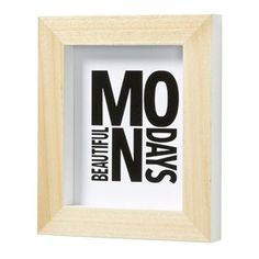 "Cuadro Archer  ""Mondays"" 27x32cm"