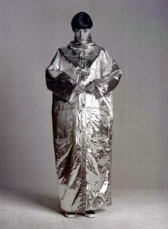 Courrèges metallic coat 1960s Repinned by www.lecastingparisien.com
