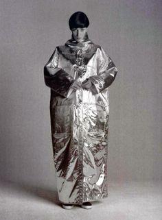 Courrèges metallic coat 1960s