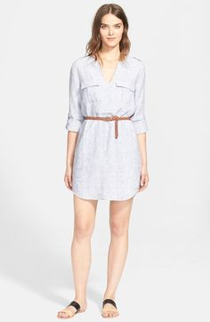 Joie+'Rathana+C'+Belted+Shirtdress+available+at+#Nordstrom